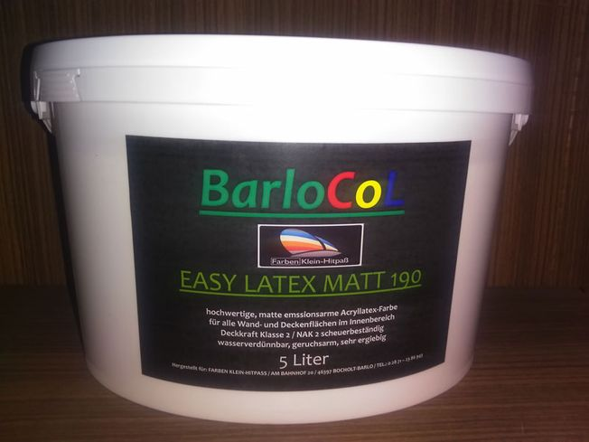 BarloCol Easy-Latex matt 190 / 2,5 l